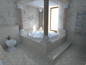 ванна в римском стиле